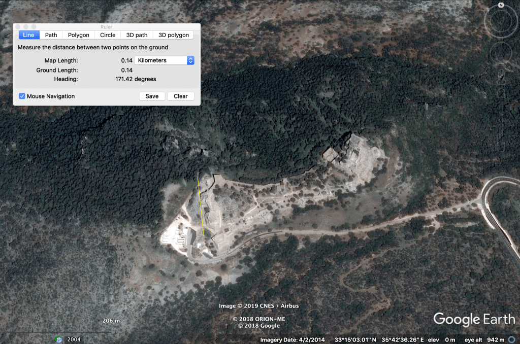 Location Nimrod Fortress